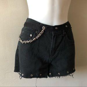 Vintage Black Chain Belt